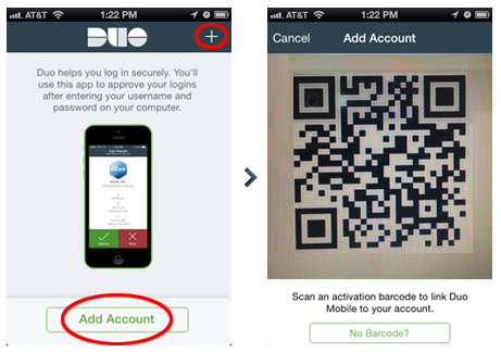 Duo Mobile Account Activation