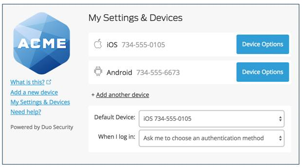 My Settings & Devices